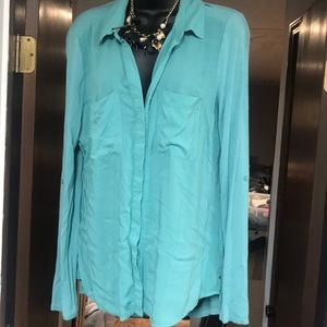 Turquoise button up